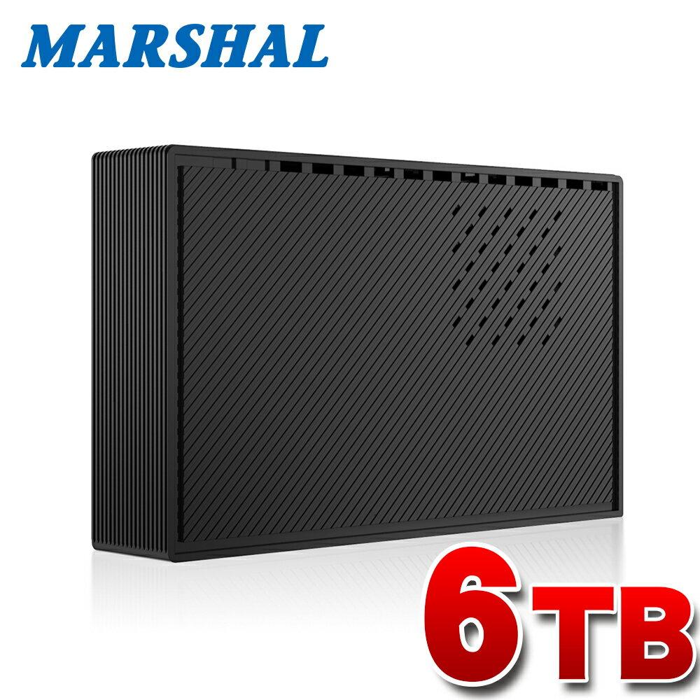 【テレビ録画対応】外付けハードディスク HDD 大容量 6TB 6000GB TV REGZA レグザ 対応 超高速USB3.0搭載 外付けHDD MARSHAL MAL36000EX3-BK【送料無料】