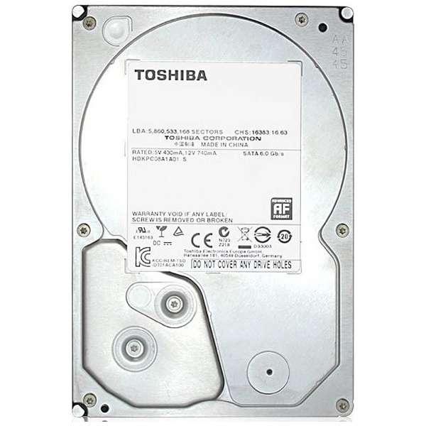 東芝 TOSHIBA 3.5インチ 内蔵ハードディスク 2TB SATA 128MB 7200rpm MD04ACA200内蔵hdd メーカーリファブ