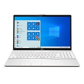 富士通 ノートパソコン Office付き 新品 同様 SSD Ryzen 7 8GBメモリ SSD 512GB 15.6インチ フルHD DVD-RWWebカメラ WPS Office搭載 Windows10 FMV FUJITSU LIFEBOOK AH51/E3 FMVA51E3WG 無線LAN 訳あり