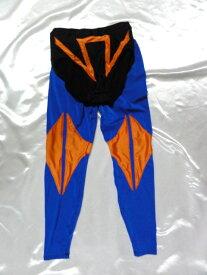 シマスポーツ製 タイガータイツセット 青/オレンジ ショートタイツ+ロングタイツ