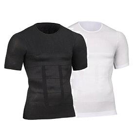 まるまーと(Marumart)加圧インナー 補正下着 姿勢矯正 ダイエット着圧 コンプレッションウェア Tシャツ メンズ