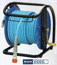 フジマックマッハスムージーホースドラム常圧用1.5Mpa長さ30mNDZG-730Cスチール製:回転台無ロック一発カプラ  エアーホースドラム内径7mm×外径1...