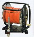 フジマックマッハ エアーホースドラム高圧用3.0Mpa長さ30mオレンジ:NHDALB-530TC/ホワイト:WHDALB-530TCスチール製:回転台つきオー...