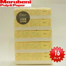 【5個×16Pまとめ買い】【大容量】ソフトパックティッシュfleur200Wフルール400枚200組×5個×16パック