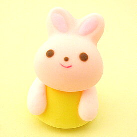 プリンアニマルウサギ生用(メレンゲ飾り・誕生日)