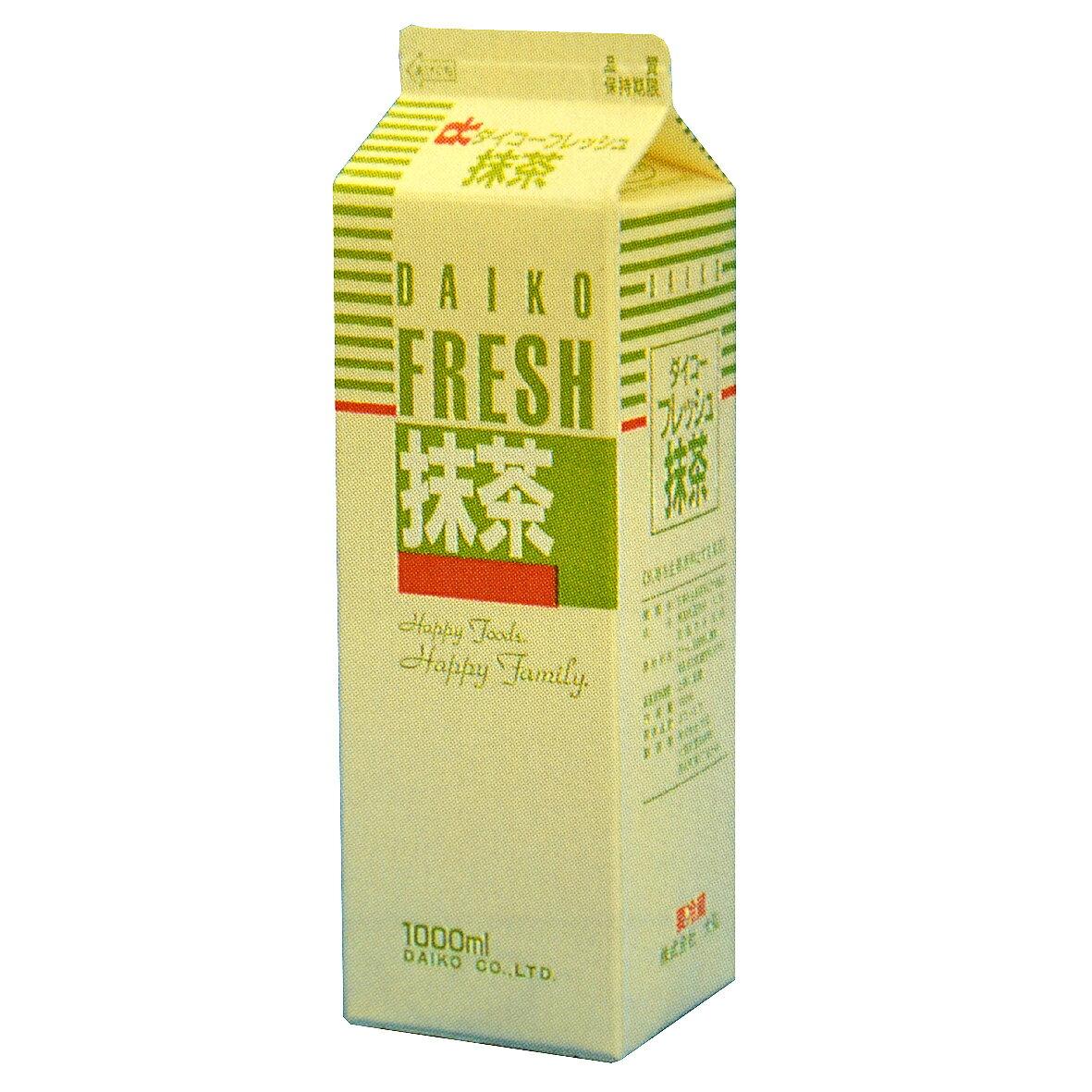 【注文後取り寄せ商品】【生クリーム】ダイコーフレッシュ抹茶(乳脂肪分36%) 1L