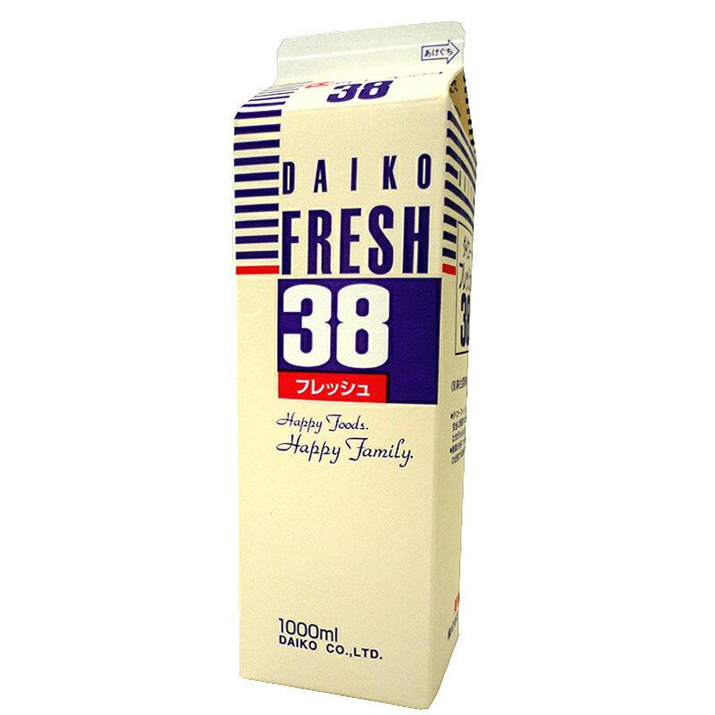 【注文後取り寄せ商品】【生クリーム】ダイコーフレッシュ38(乳脂肪分38%) 1L
