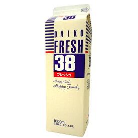 【注文後取り寄せ商品】【生クリーム】大弘フレッシュ38(乳脂肪分38%) 1L