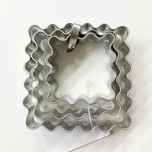 クッキー抜型 四角波クッキーカッター 3セット