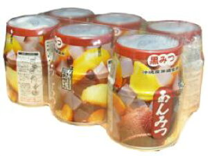栄太楼 あんみつ (黒みつ) 内容総量255g 6缶パック
