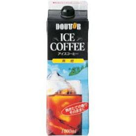 送料無料 ドトールコーヒー ドトール ICE COFFEE(アイス コーヒー) 無糖 1000ml紙パック×12本入(2ケース)
