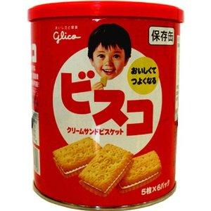 グリコ ビスコ保存缶 30枚×10缶