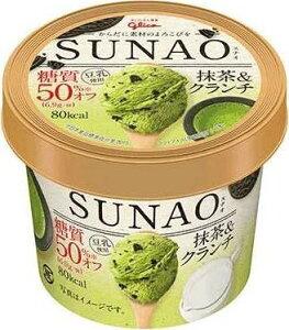 グリコ SUNAO 抹茶&クランチ カップ120ml ×36個入