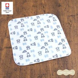 今治タオル ミッフィー ガーゼミニハンカチ 約25cm×25cm(miffy 赤ちゃん ベビー ギフト 出産祝い 日本製 保育園 国産)