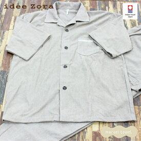 【送料無料】今治タオル イデゾラ オム パジャマ 半袖 3サイズ( M L LL ) 4色 ( アイボリー グレー ブラウン ブラック ) 綿100% 父の日