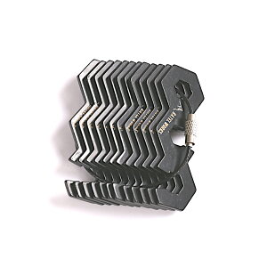 RATELWORKS ラーテルワークス Zizai(自在金具) ステンレス製 12個 ロープストッパー ブラック キャンプ アウトドア【メール便配送】 (RWS0008)