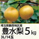 埼玉県騎西地区産豊水梨5kg3Lサイズ/14玉(220_17梨)