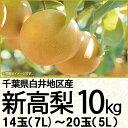 千葉県産新高梨10kg14玉(8L)〜20玉(5L)(220_20梨)