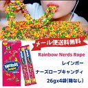 ★送料無料♪Wonka Rainbow Nerds Rope レインボーナーズロープキャンディ 26gx4袋(箱なし)
