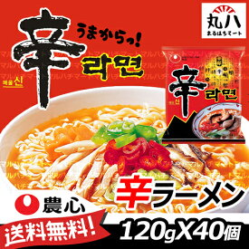 ★送料無料♪ 辛ラーメン 120g×40個入り(1BOX)★ 韓国 ラーメン 辛い しんらーめん 韓国食品 韓国食材