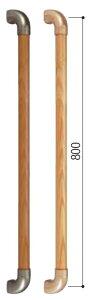 セレクトシリーズ I型ハンド32mmx800mm BG-40MB Mブラウン・ブラウン マツ六【階段・廊下・玄関・取付・介護・福祉・手摺・売れ筋 ミニ手すり】