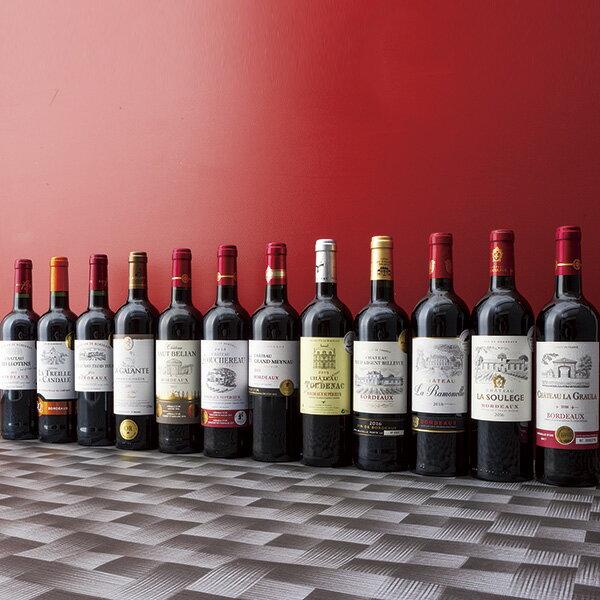 送料無料 フランス・ボルドー地方 W金賞受賞ワイン含む赤ワイン12本セット のし・包装不可