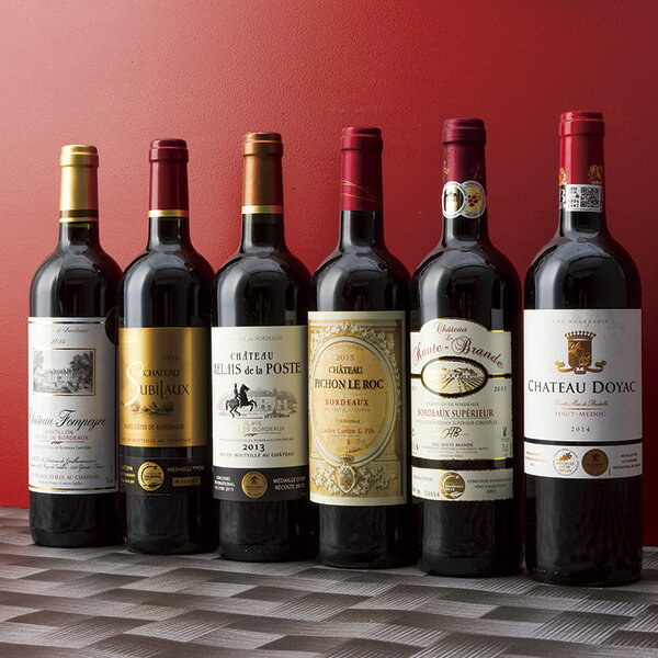 送料無料 フランス・ボルドー地方 右岸vs.左岸飲み比べワイン6本セット のし・包装不可