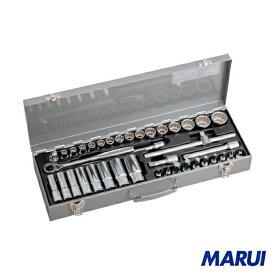 TONE ミックスソケットレンチセット 39pcs 1S MX400 【DIY】【工具のMARUI】