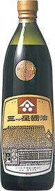 s【送料無料6本入りセット】(和歌山)三ッ星醤油 900ml 三ツ星醤油(みつぼししょうゆ) k