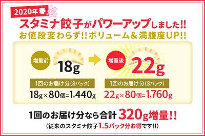 ラーメン店から注文殺到の自慢の味丸上工業食品スタミナ餃子80個入り