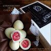古典箱cafe,q kafekkudoshokoraporando产干燥草莓乳白色巧克力微型礼物礼物糕点点心巧克力礼物离职工作调动感谢