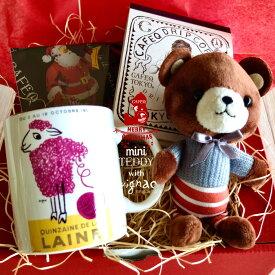 【クリスマス】ミニテディサヴィニャックギフト/ サヴィニャック マグカップ 1種1個/チョコ1種/紅茶(tb3個)又はコーヒー(3個)/記念日 結婚祝い お祝い お礼 内祝い 詰め合わせ バレンタイン お返し 誕生日 プレゼント スイーツ キャラクター マスコット テレワーク