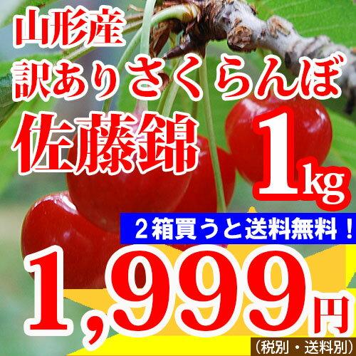 【訳あり】山形産 さくらんぼ【佐藤錦指定】1kg