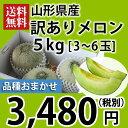 山形県産【訳あり】メロン5kg[3〜6玉・品種おまかせ]