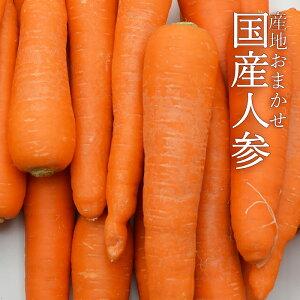 《産地おまかせ》国産人参 約10kg (およそ40〜60本入) 【送料無料 国産 にんじん 緑黄色野菜 ニンジン 野菜 箱買い 店舗様 おすすめ 大量 おすそ分け シェア 野菜 業務用】