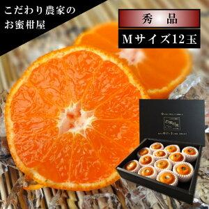 濃厚柑トロのお蜜柑「蜜ツ星(みつぼし)」 黒の化粧箱 Mサイズ 秀品 12玉入
