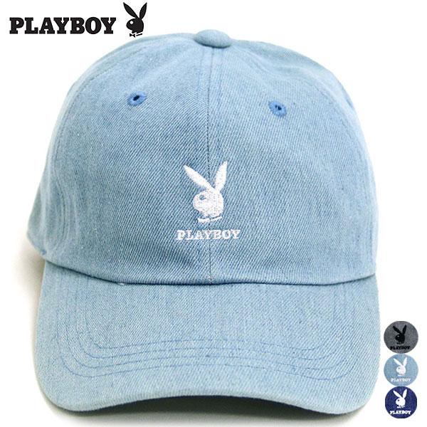 PLAYBOY キャップ メンズ キャップ レディース 帽子 メンズ 帽子 レディース ローキャップ デニムローキャップ デニムキャップ CAP 刺繍 デニム カジュアル ストリート プレイボーイ マルカワ