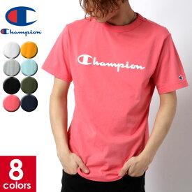 全品送料無料 チャンピオン Tシャツ メンズ 夏 ロゴ プリント 半袖 おしゃれ オシャレ 大人 白 黒 S M L LL C3-P302