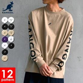 全品送料無料 KANGOL カンゴール 別注 Tシャツ メンズ 春 ロゴ 刺繍 長袖 おしゃれ オシャレ 大人 白 黒 M L XL