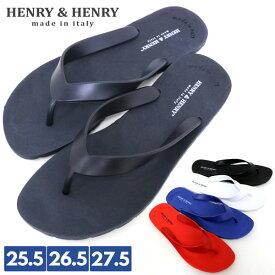 全品送料無料 【HENRY&HENRY】ヘンリーアンドヘンリー ビーチサンダル メンズ レディース ビーサン サンダル リゾート 海 海水浴 プール 夏 靴 楽ちん 歩きやすい トングサンダル おしゃれ オシャレ 大人 黒