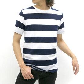Tシャツ メンズ 夏 ボーダー 半袖 抗菌防臭 ホワイト/ブラック/ネイビー/ターコイズ M/L/LL