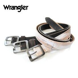 全品送料無料 Wrangler ラングラー レーザー彫りサイド金箔ベルト