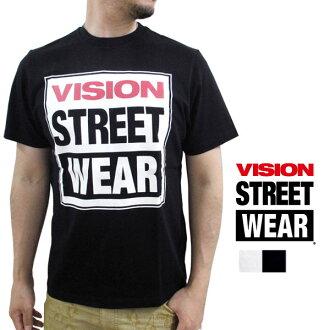 願景街頭服飾 / 視覺街頭穿皮大衣的標誌列印中性短袖 T 恤街 / 滑冰 / 休閒 / 男裝]