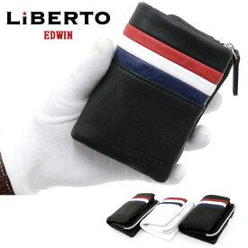 リベルト エドウィン 財布 メンズ 冬 合成皮革 ホワイト/ブラック/ダークブラウン