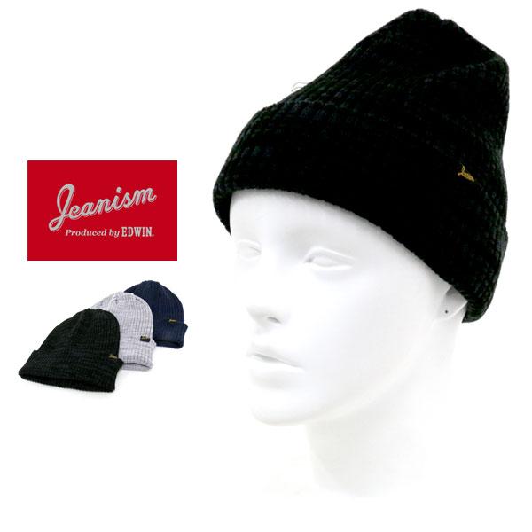 ジーニズム エドウィン 帽子 メンズ 冬 アクリル100% グレー/ブラック/ネイビー