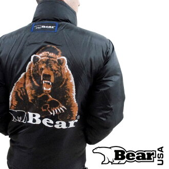 Bear and bear USA # ~ reversible design-popular bear print Daito worn warm down jacket [outdoor / New York / bear / casual / warm / street fashion and Magazine listings / animal / a
