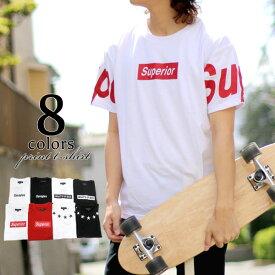 Tシャツ メンズ 夏 袖 プリント 半袖 ホワイト/ブラック/レッド M/L/LL