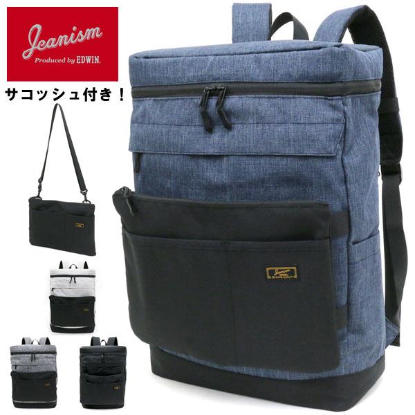 JEANISM produced by EDWIN バッグ メンズ 夏 サコッシュ付き グレー/ブラック/ネイビー