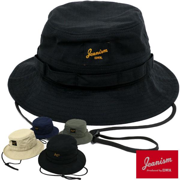 JEANISM EDWIN 帽子 メンズ 夏 綿100% ブラック/ベージュ/カーキ/ネイビー