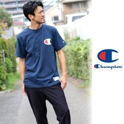 チャンピオンTシャツ大きいサイズメンズ半袖ロゴホワイト/グレー/ブラック/ネイビー3L/4L【ブランドビッグ刺繍】